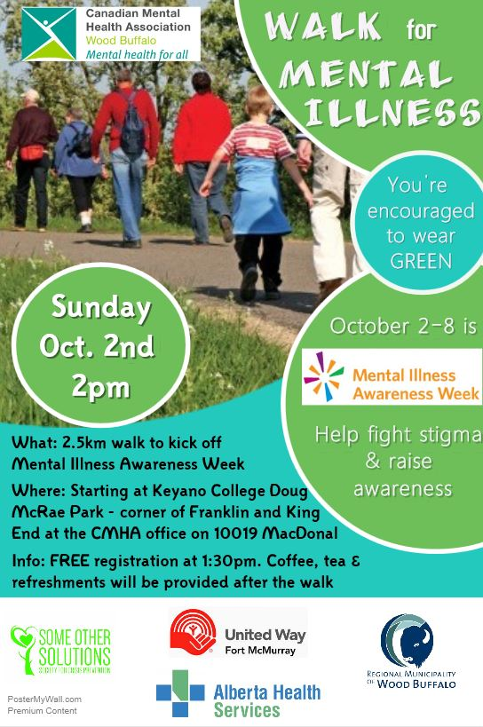Walk for Mental Illness @ Keyano College Doug McRae Park   Fort McMurray   Alberta   Canada